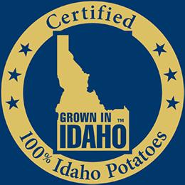 Certified 100% Idaho Potatoes
