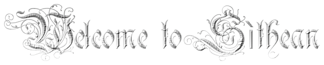 welcome to sìthean in a gothic font