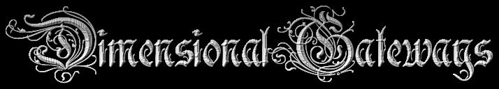 dimensional gateways in a gothic font