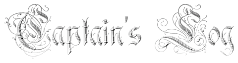 captain's log in a gothic font