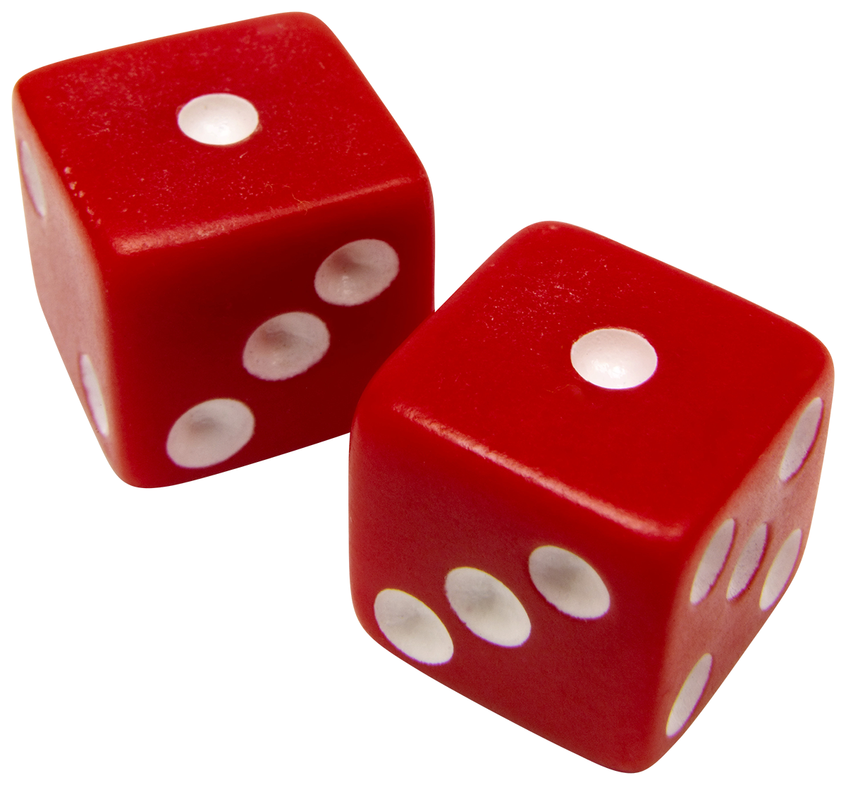 two red dice that have rolled snake eyes